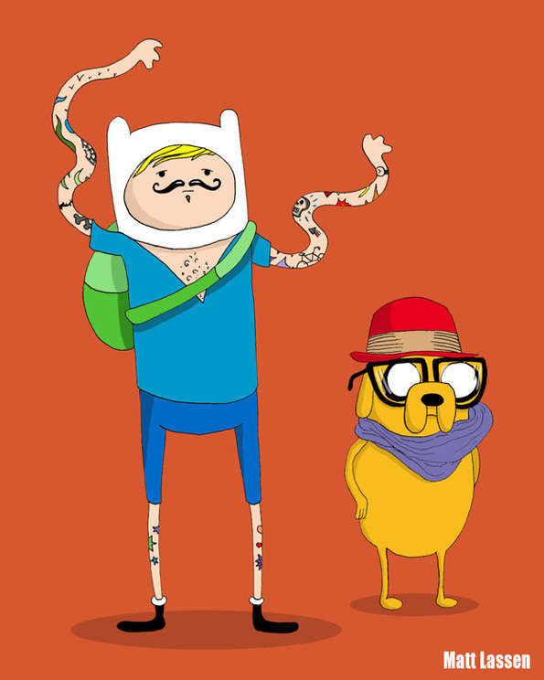 cartoon-characters-as-hipsters-13