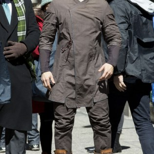 On location with 'Doctor Strange' filming in New York City Featuring: Mads Mikkelsen Where: New York, New York, United States When: 04 Apr 2016 Credit: WENN.com