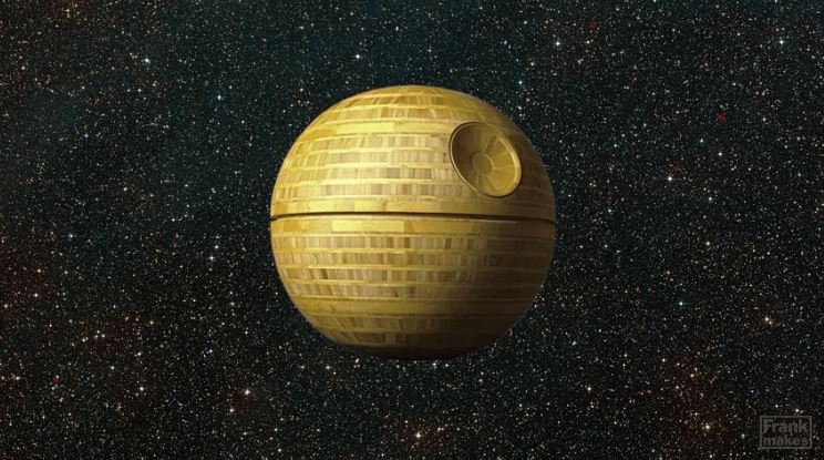 Extremely Detailed Bamboo Death Star
