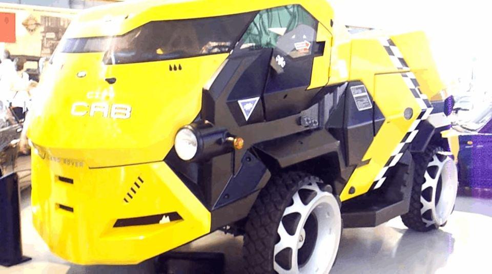 Judge Dredd City Cab Displayed In a Show In UK
