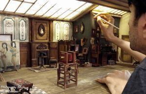 Miniature 1900s Photo Studio
