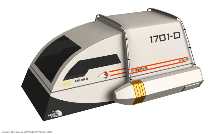 Awesome Tent Design Based on a Star Trek Federation Shuttlecraft (3)