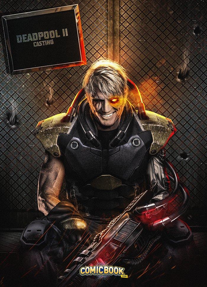 Dolph Lundgren as Cable in DEADPOOL 2 Fan Art