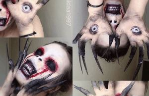 Teen Artist Transforms Herself Into Horrific Characters