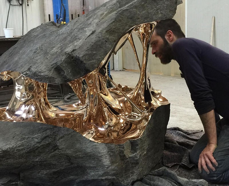 Bronze Used to Pull Boulders Apart