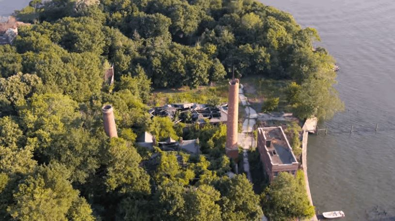 North Brother Island on New York City's East River