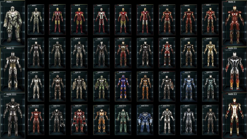 Every Iron Man Suit