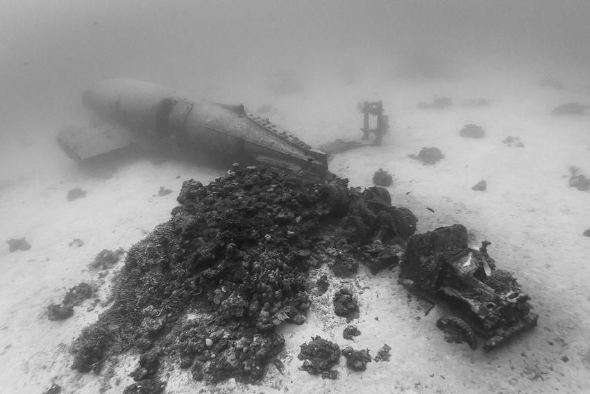 Underwater Graveyard of WWII Planes  (13)
