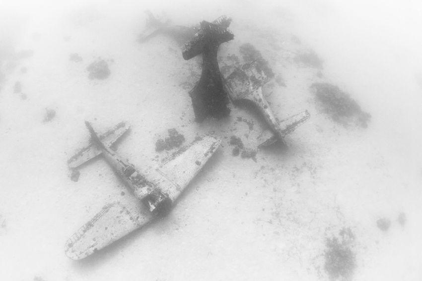 Underwater Graveyard of WWII Planes  (8)