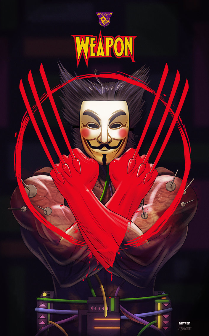 Wolverine Mashed Up With V FOR VENDETTA