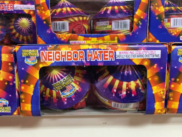 Hilarious Fireworks Packaging