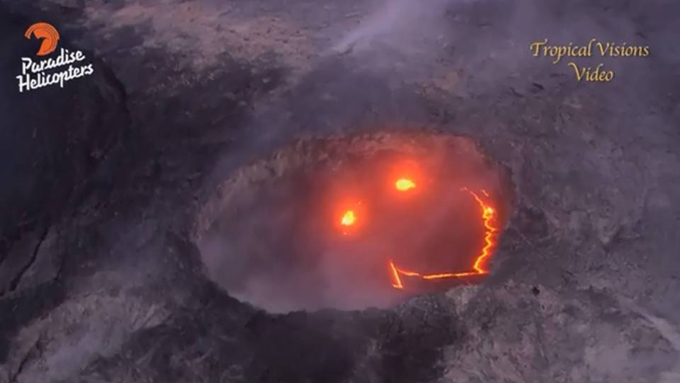 Smiling Lava Face