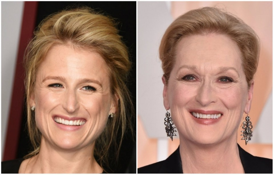 Mary Gummer and Meryl Streep
