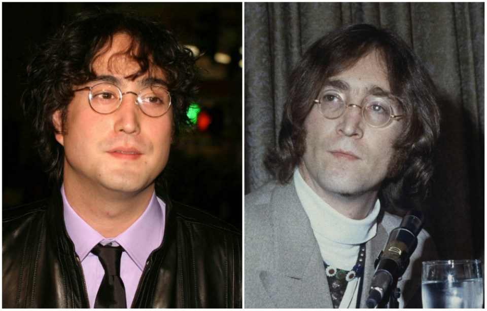 Sean Lennon and John Lennon