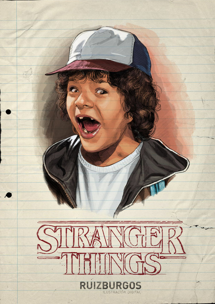 STRANGER THINGS Retro Character Portraits