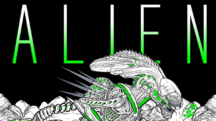 Alien Coloring Book For Adults Fizx