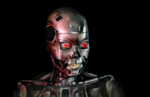 Awesome Body Painted T-800 From The Terminator