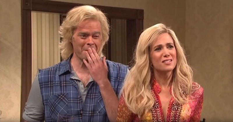 SNL Cast Breaking Character