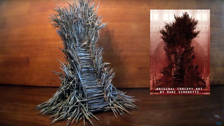 GAME OF THRONES Fan-Made Model Of Iron Throne