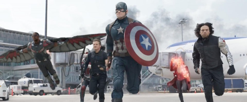 Captain America: Civil War Airport Fight Scene