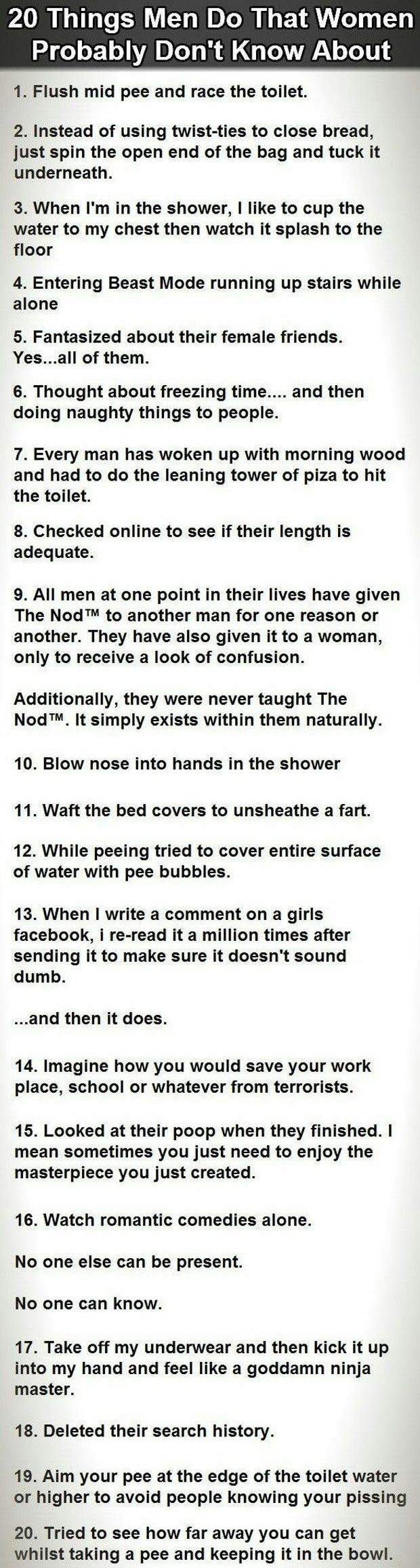 Facts About Men