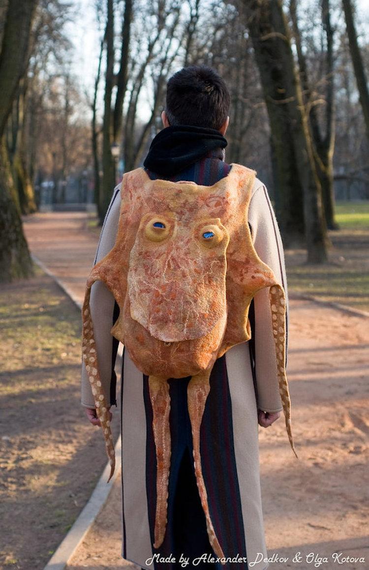 Handmade Octopus Backpack