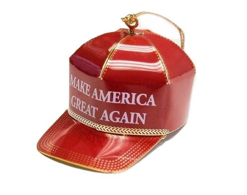Trump Red Cap Collectible Ornament