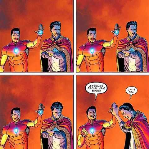 Dr. Strange and Iron Man
