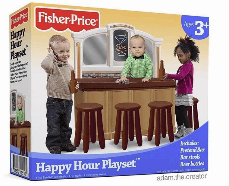 Fisher-Price Happy Hour Playset