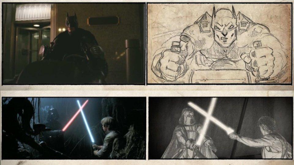 Movie Scenes And Their Original Storyboard Art