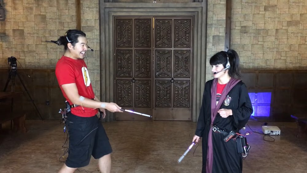 Real Life Wizard Duels With Activated Wands and Shock Packs