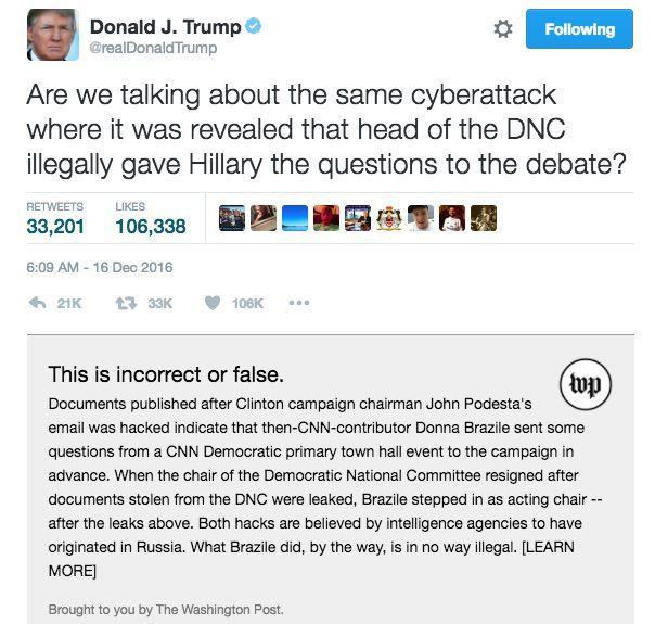 Fact Checks Trump's Tweets