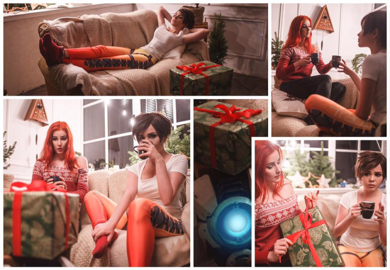 Tracer And Emily Intimate Overwatch Cosplay