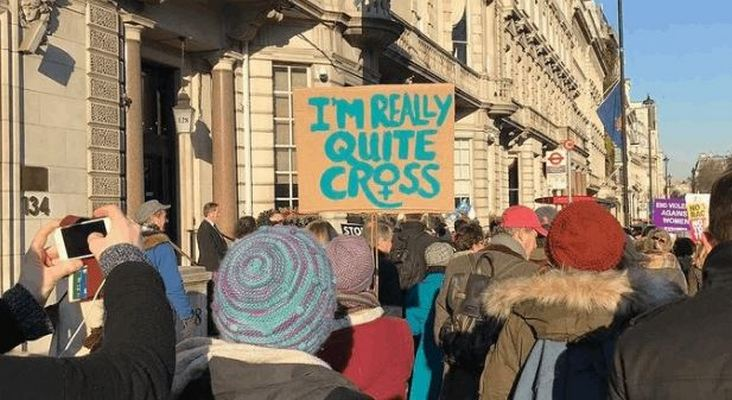 British Signs From London Women's March