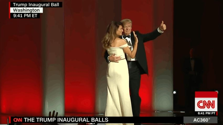 Donald Trump And Melanie First Dance