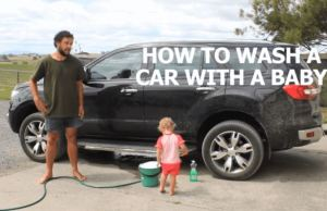 How To Wash A Car With Baby