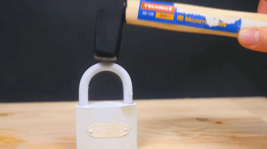Liquid Nitrogen And Lock