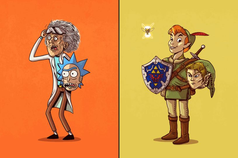 Pop Culture Characters Unmasked