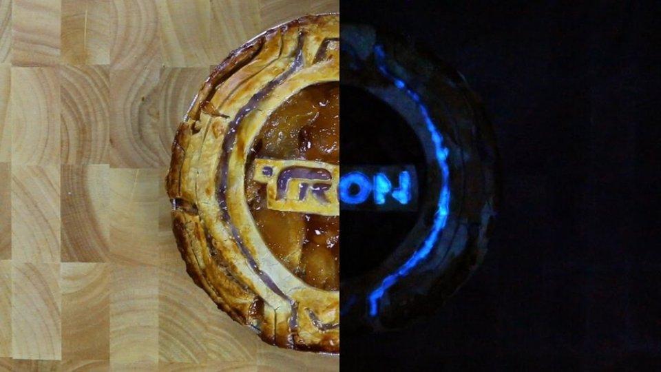 Glow-in-the-Dark TRON Pie