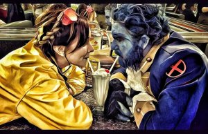 BEAUTY AND THE BEAST -Xmen-Cosplay
