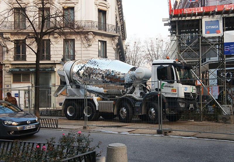Disco Ball Concrete Mixer Trucks