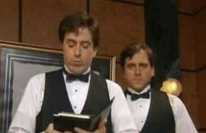 Stephen Colbert and Steve Carell