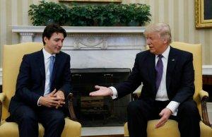 Donald Trump With Justin Trudeau