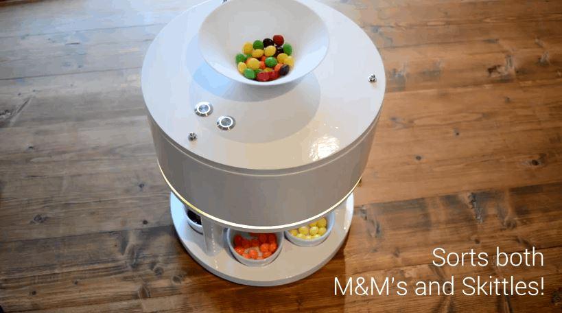 M&Ms and Skittles Sorting Machine