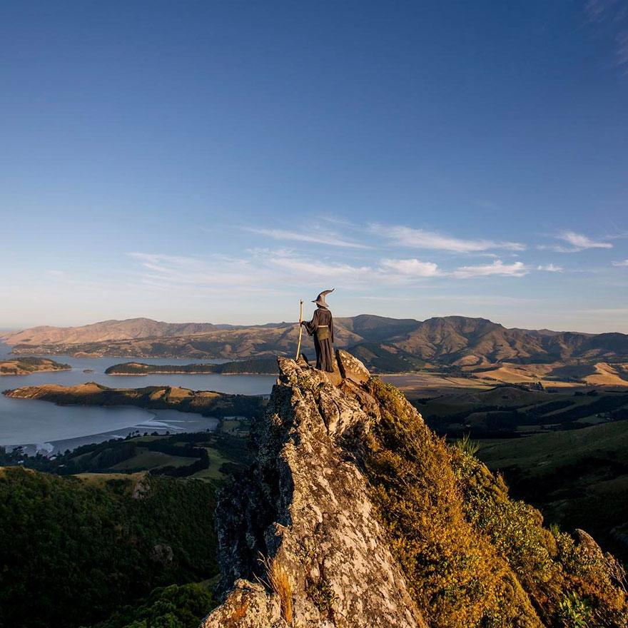 New Zealand In Gandalf Costume