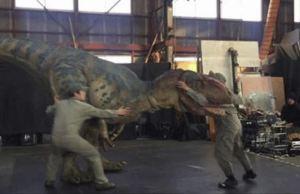 Hyper Realistic Human Controlled Robot Allosaurus