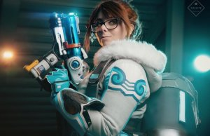 Cosplay of Mei from OVERWATCH by Momokun
