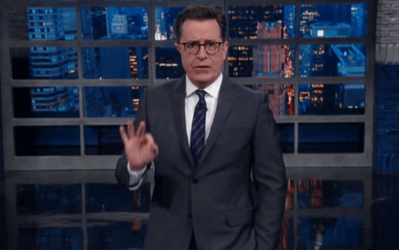 Stephen Colbert Rips Open Sean Spicer's Excuse For Transgender Bathroom Protection