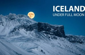 Iceland Under a Full Moon