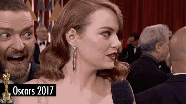 Justin Timberlake photobombs Emma Stone